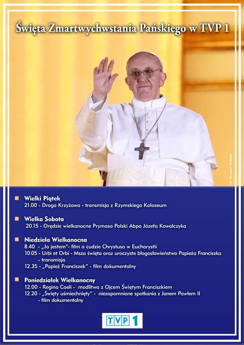 Program Redakcji Katolickiej TVP1 na Święta Wielkanocne 2013