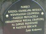 Tablica O. Stanisława Musiała na Cmentarzu Żydowskim w Krakowie