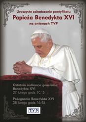 Transmisja zakończenia pontyfikatu Benedykta XVI w TVP