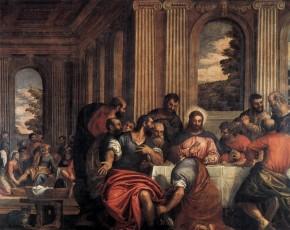 CALIARI, Benedetto, Last Supper, image collection, virtual museum, database, postcard; http://www.wga.hu