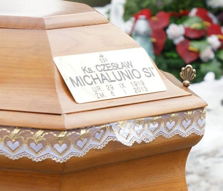 Pogrzeb o. Czesława Michalunio SJ