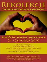 """Kraków: rekolekcje o """"Przeżywaniu kryzysu w małżeństwie"""""""