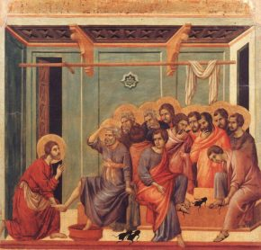 DUCCIO di Buoninsegna, Washing of the Feet, image collection, virtual museum, database, postcard; http://www.wga.hu