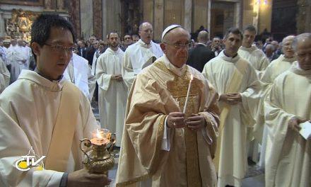 Papież z jezuitami uczcił św. Ignacego