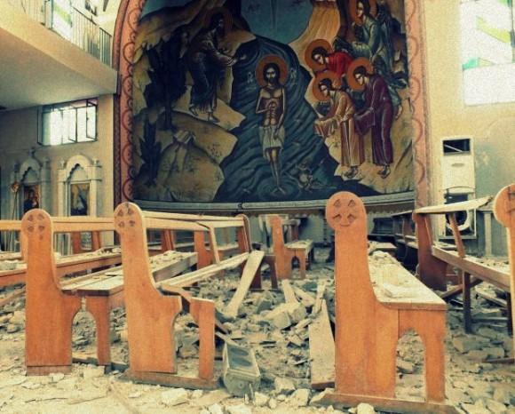 fot. Zniszczona Kościół w Syrii