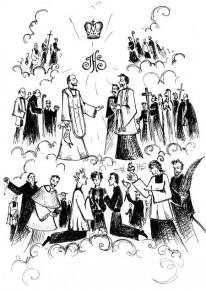 Święci i Błogosławieni Towarzystwa Jezusowego (rys. Przemysław Wysogląd SJ)