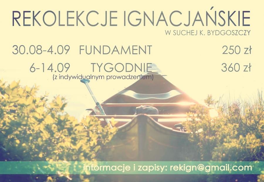 Rekolekcje Ignacjańskie w Suchej