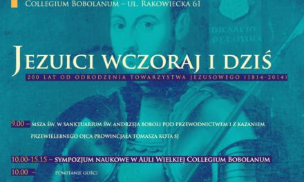 """Warszawa: """"Jezuici wczoraj i dziś"""""""