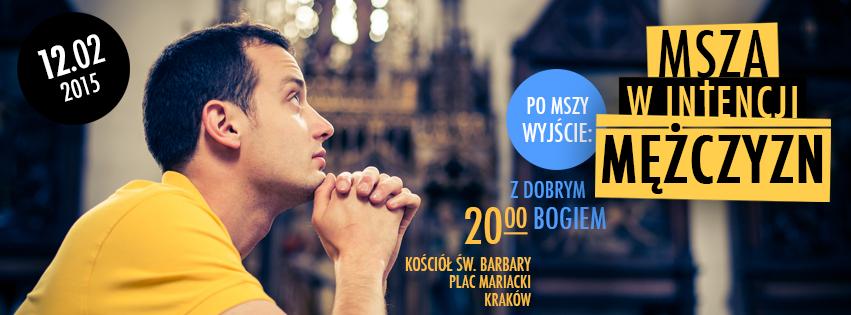 Zaproszenie: Msza dla mężczyzn w Krakowie