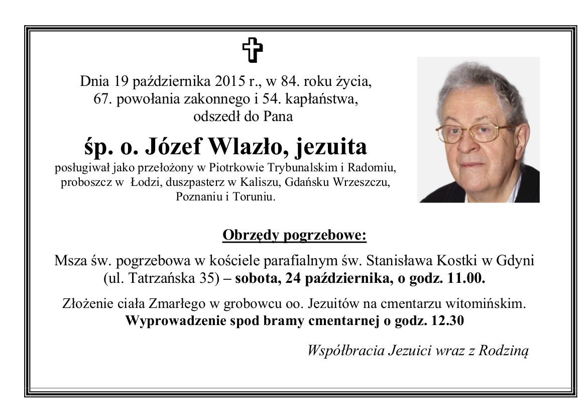 Nekrolog J. Wlazło SJ