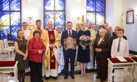 Prezydent Andrzej Duda otrzymał relikwie św. Andrzeja Boboli