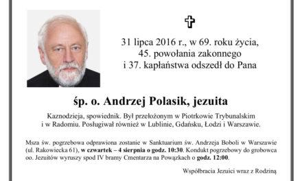 Zmarł o. Andrzej Polasik SJ