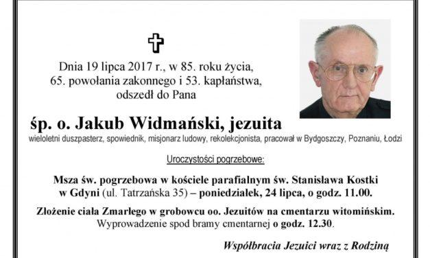 Zmarł o. Jakub Widmański SJ