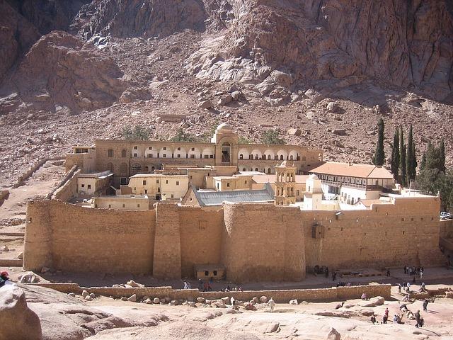Na Synaju u Mojżesza i Katarzyny Aleksandryjskiej