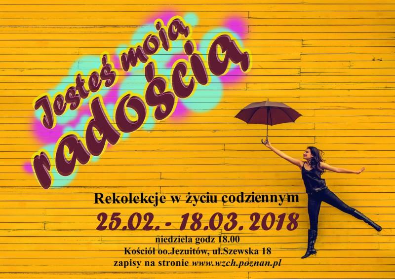 Poznań: jesteś moją radością – rekolekcje w życiu codziennym