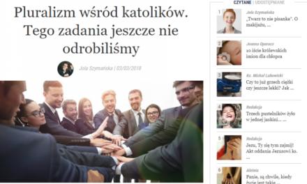 Dariusz Dańkowski SJ o pluralizmie i Katolickiej Nauce Społecznej