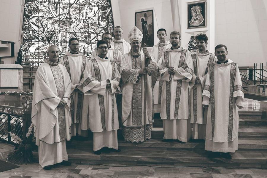 Święcenia diakonatu w Kolegium Bobolanum w Warszawie