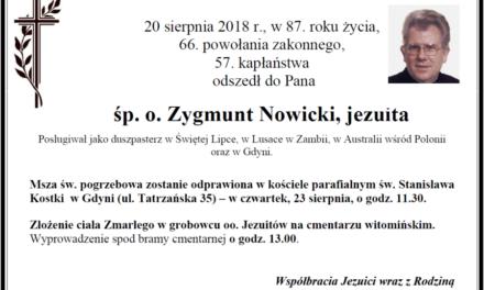 Zmarł Zygmunt Nowicki SJ