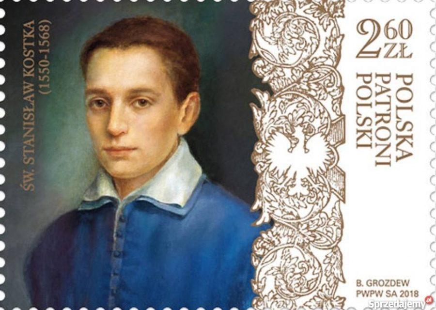 Święty Stanisław Kostka na znaczku Poczty Polskiej