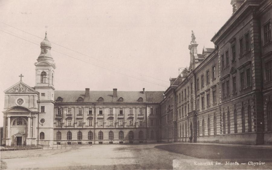 Dziedziniec Kolegium w Chyrowie
