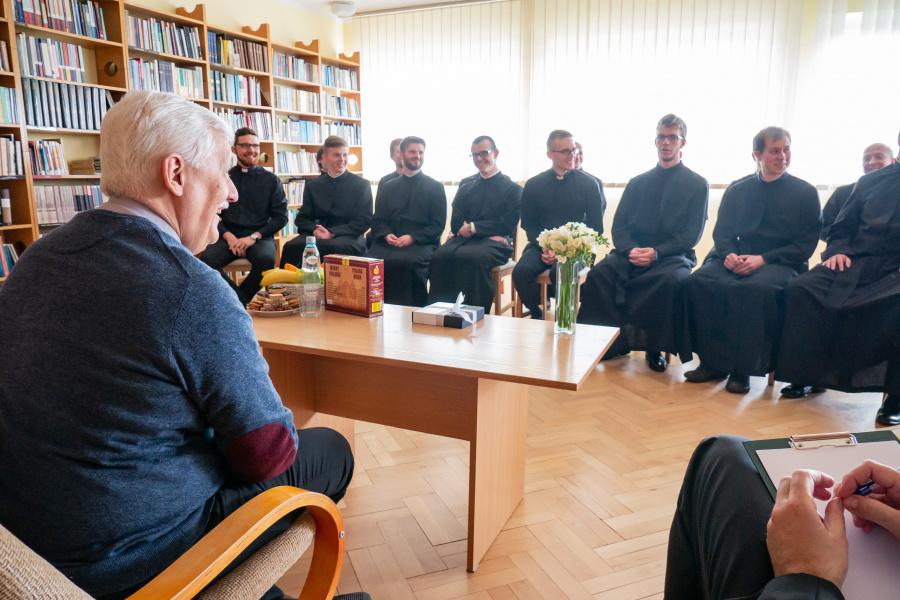 Spotkanie Generała z nowicjuszami