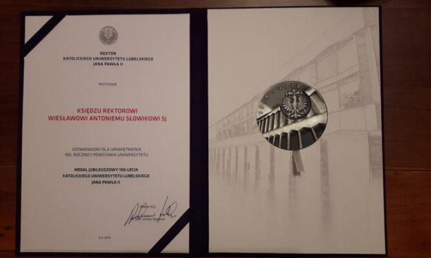 O. Wiesław Słowik SJ wyróżniony przez KUL