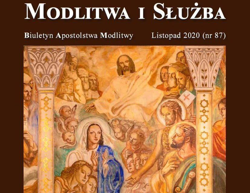 """Listopadowy numer miesięcznika Papieskiej Światowej Sieci Modlitwy w Polsce: """"Modlitwa i Służba"""""""