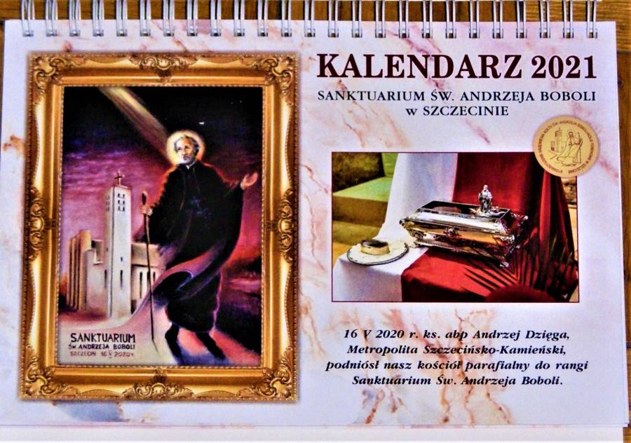 Kalendarze na 2021rok ze Świętym AndrzejemBobolą