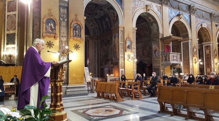 O. Federico Lombardi SJ przewodniczył Mszy św. w intencji śp. o. Andrzeja Koprowskiego SJ
