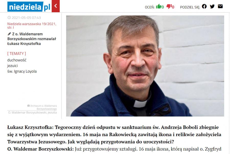 Warszawska prasa o Roku Ignacjańskim